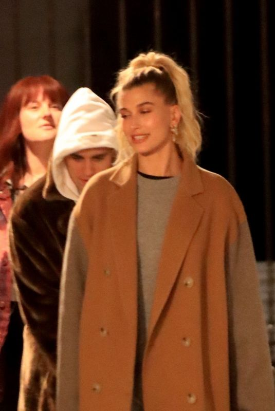 Justin Bieber & Hailey Bieber Attend Wednesday night church service in Beverly Hills