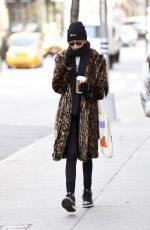 Kaia Gerber Takes a morning walk around Soho in New York City