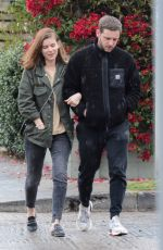 Kate Mara Takes a cozy-looking walk in Los Angeles