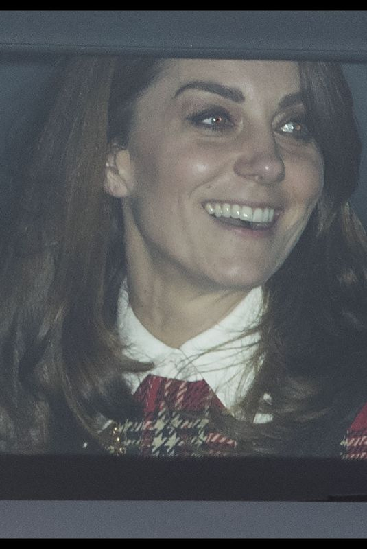 Kate Middleton Attends a Christmas lunch hosted by Queen Elizabeth II at Buckingham Palace in London