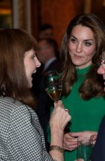 Kate Middleton Attends a reception for NATO leaders hosted by Queen Elizabeth II at Buckingham Palace in London