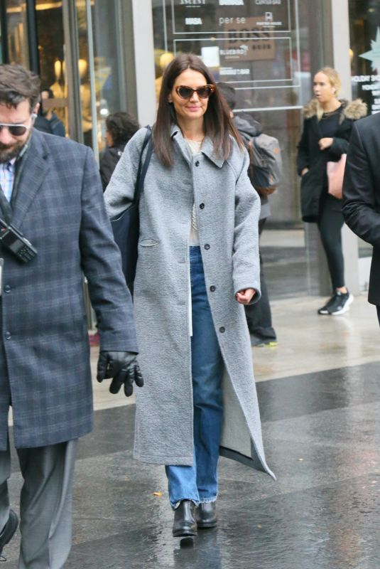 Katie Holmes Out for Christmas shopping in New York City
