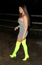 Katie Price aka Jordan enjoyed a night out on the town as she returned home
