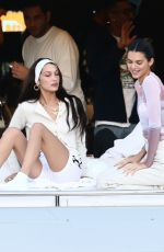 Kendall Jenner and Bella Hadid hang out together aboard David Grutman