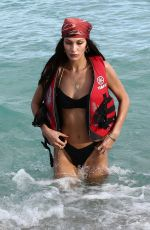 Kendall Jenner & Bella Hadid In bikinis at the beach in Miami