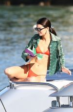 Kendall Jenner In a bikini on a boat in Miami