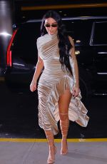 Kim Kardashian Arriving And Departing Kanye West Christmas Orchestra In NYC
