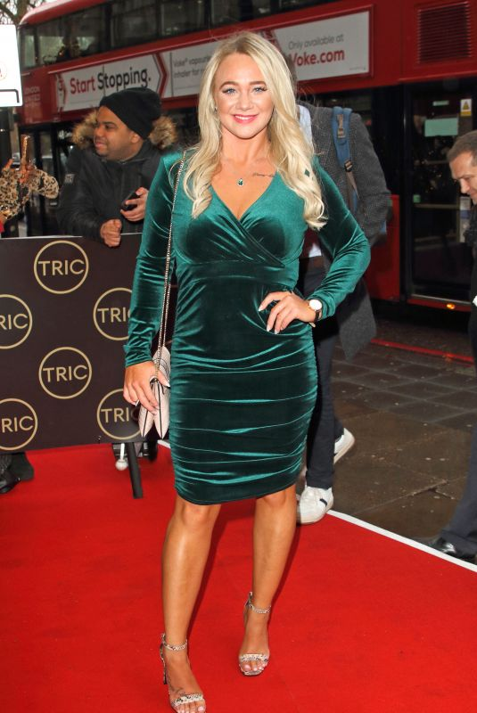 Kirsty Leigh Porter Arrives at the TRIC Christmas Charity Lunch at the Grosvenor House Hotel in London