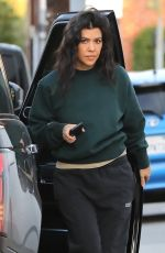 Kourtney Kardashian Looks cozy as she leaves the Milk Studios in Los Angeles