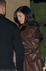 Kylie Jenner Leaves a holiday dinner gathering at Nobu in Malibu