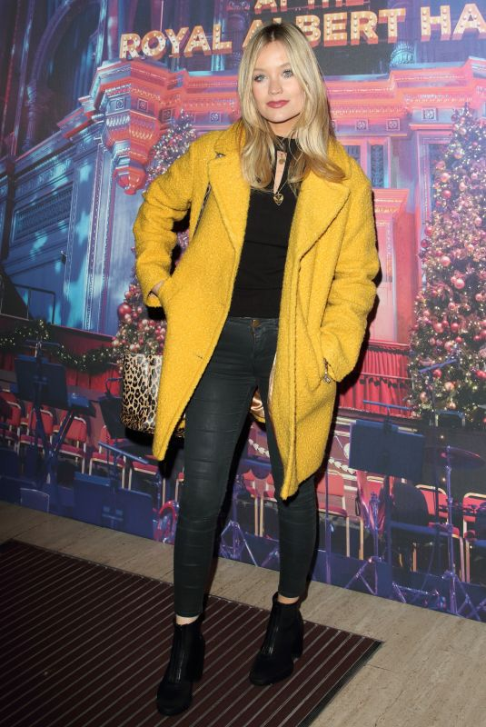 Laura Whitmore Attends the Emma Bunton Christmas Party at Royal Albert Hall in London