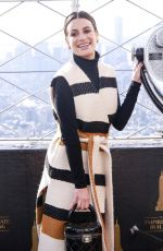 Lea Michele Celebrates 2019 Holiday Light Show at The Empire State Building