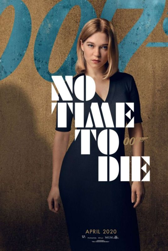 Vanity Fair April 2020.Lea Seydoux No Time To Die 2020 Poster Celebzz