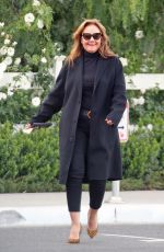 Leah Remini Seen leaving a restaurant in Hollywood