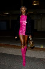 Leomie Anderson At Bankside Hotel in London
