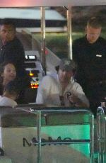 Leonardo DiCaprio and Camila Morrone leave the port of St. Barts with friends
