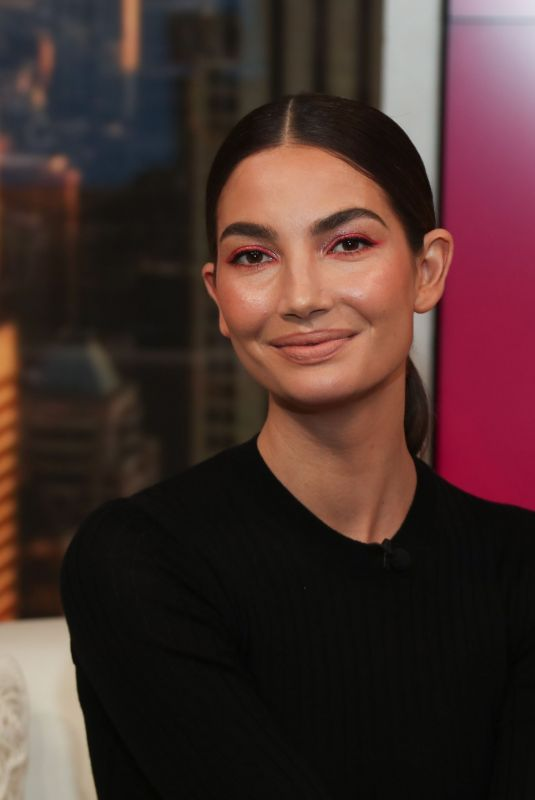 Lily Aldridge Visits People Now in New York