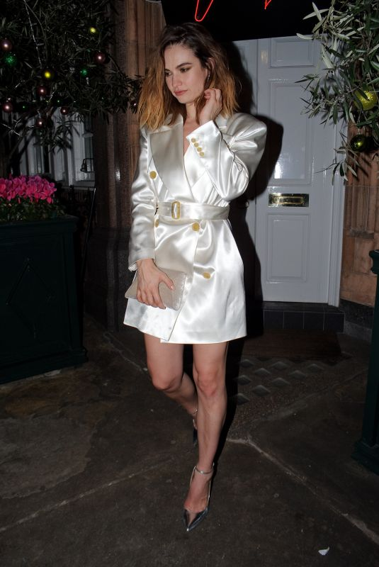 Lily James Outside Harry