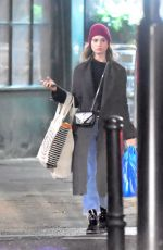 Lily James Running errands in London