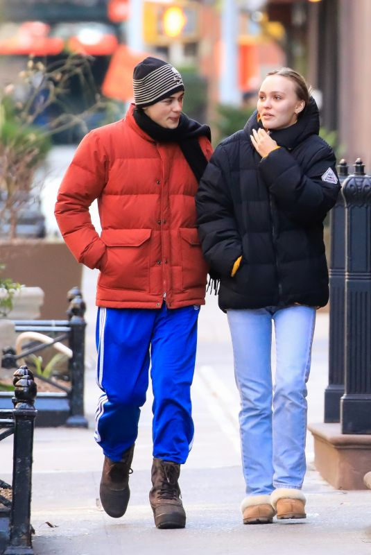 Lily-Rose Depp Spotted on a Stroll with a Friend in New York City