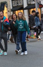 Maddie Ziegler Steps out with her friends and goes holiday shopping in Beverly Hills