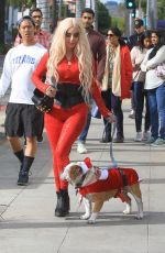 Marcela Iglesias Out with her dog Christmas shopping in Beverly Hills