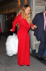 Mariah Carey Celebrates her Christmas song potentially going #1 with her boyfriend and kids in New York