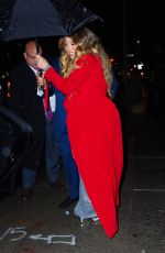Mariah Carey Heads out from her apartment in rainy New York City