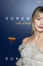 Melissa Benoist Attends the red carpet for the shows 100th episode celebration at the Fairmont Pacific Rim Hotel