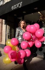 Melissa Gorga Getting ready for a Small Business Saturday shopping event for fans and customers at her store Envy in Montclair