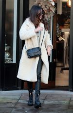Michelle Keegan Outside Terence Paul Hairdressing in Hale, England