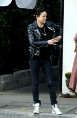 Michelle Rodriguez Heads out to lunch at Gracias Madre in West Hollywood