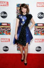 Milana Vayntrub Celebrating Marvel