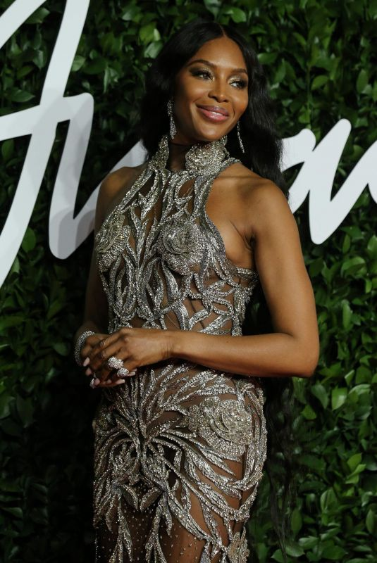 Naomi Campbell Arrival at The Fashion Awards 2019 in London