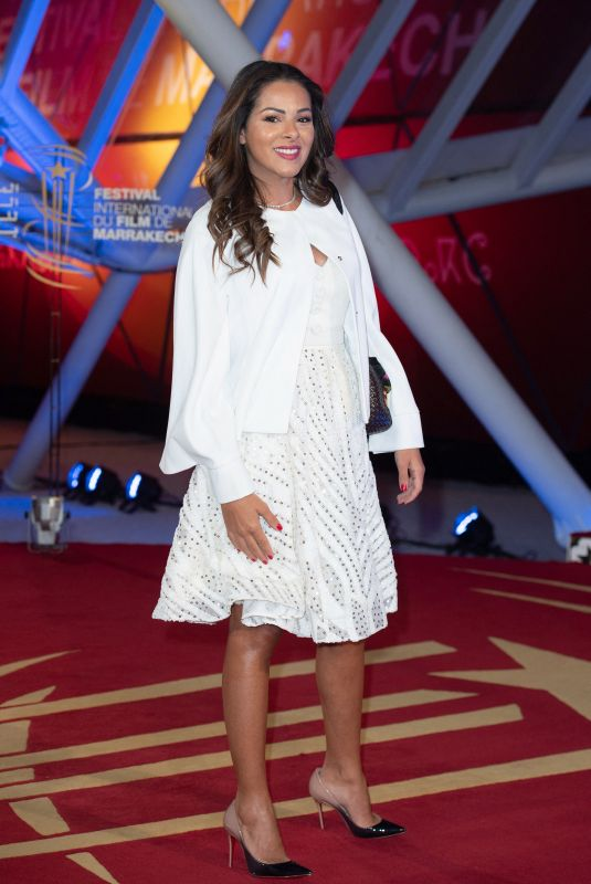 Nawel Debbouze Attending the red carpet before the Opening Ceremony of the 18th Marrakech International Film Festival in Marrakech, Morocco