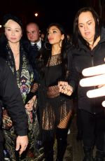 Nicole Scherzinger Surrounded by fans as she leaves Boulevard Theatre after her gig in London
