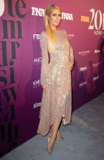Paris Hilton Attends the 2019 footwear News Achievement Awards at the IAC building in New York