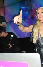 Paris Hilton Takes the stage oto DJ at the Wall Lounge at the W Hotel South Beach in Miami