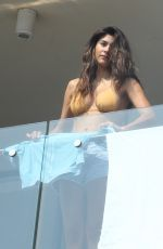 Pia Miller Seen on the balcony of her hotel in Sydney, Australia