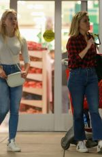 Reese Witherspoon and Ava Elizabeth Phillippe shopping for Christmas at Target in Westwood