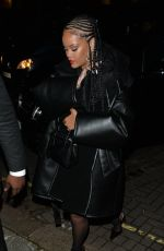 Rihanna Attending Fashion Awards afterparty at Laylow in London, England