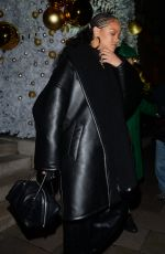 Rihanna Seen Arriving at Annabels Private members club in London