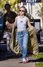 Sabrina Carpenter and Griffin Gluck enjoy post-lunch bliss at Sweet Butter in Studio City