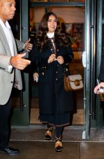 """Salma Hayek Leaving a junket for """"Like A Boss"""" at the Whitby Hotel in New York City"""
