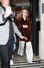 Saoirse Ronan Arriving at the Zoe Ball breakfast show in London