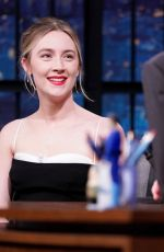 Saoirse Ronan At Late Night with Seth Meyers in NY