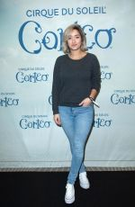 Shirine Boutella At Cirque du Soleil Corteo Show Opening at the Accor Hotel Arena Bercy in Paris