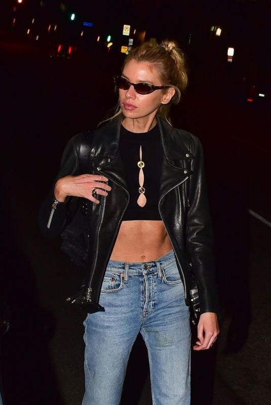 Stella Maxwell At Dinner at Chateau Marmont in West Hollywood