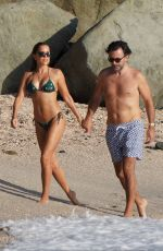 Sylvie Meis Enjoys her holiday on the beach in Saint-Barthelemy