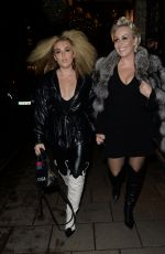 Tallia Storm Leaving Claridges Hotel London